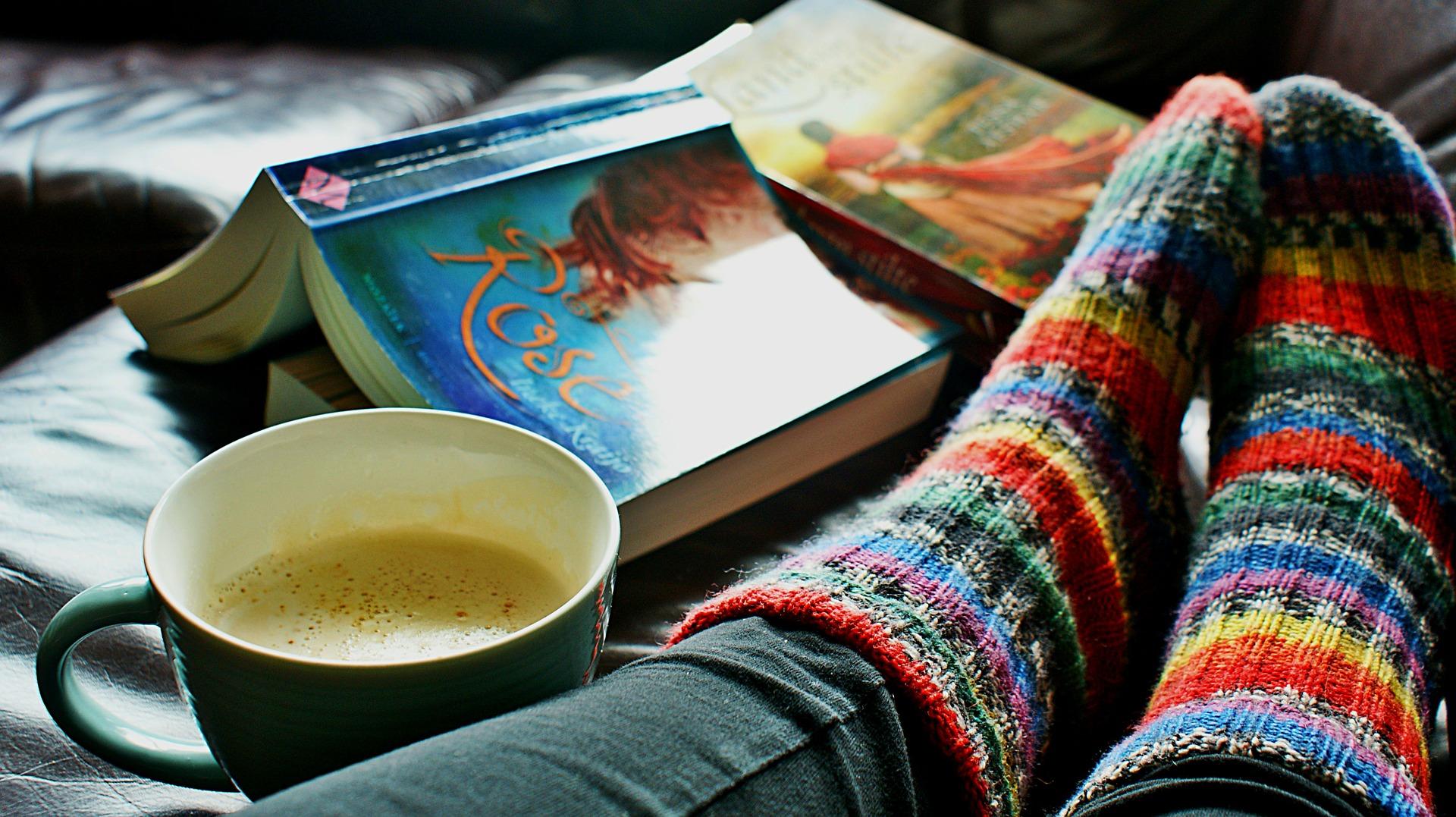 Warm socks hot coffee