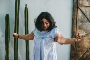 Latina Woman Dancing.